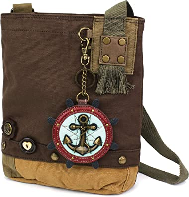 NEW Chala Messenger Crossbody Bag Canvas Dark Brown Purse GERMAN SHEPHERD Dog
