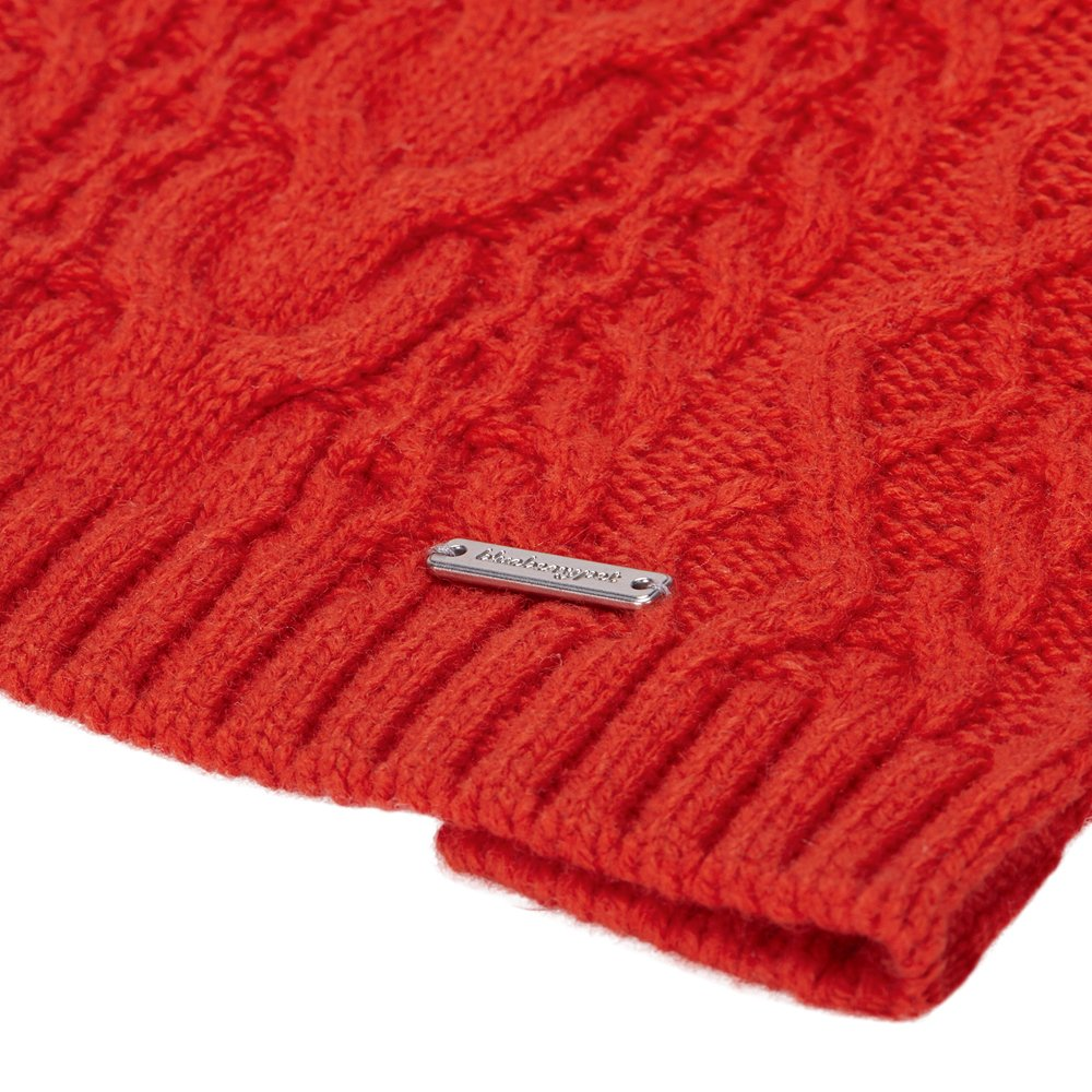 Blueberry Pet 16 Colors Classic Wool Blend Cable Knit Pullover Dog Sweater in Tomato, Back Length 16'', Pack of 1 Clothes for Dogs by Blueberry Pet (Image #6)