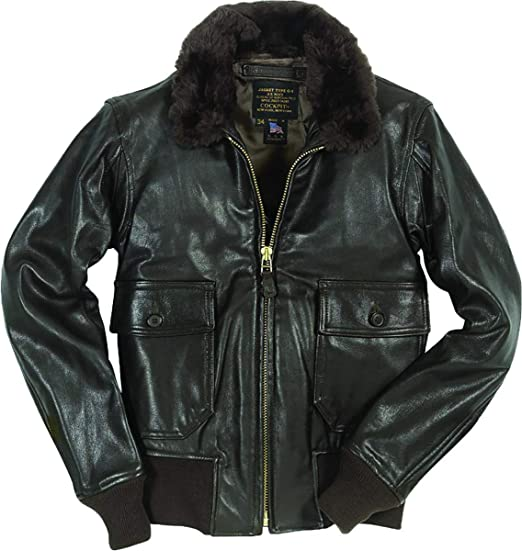 5fe76cca716 Cockpit USA U.S. Navy Issue Mil Spec G-1 Leather Jacket at Amazon ...