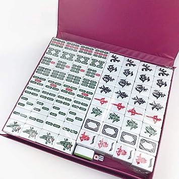 Amazon.com: Hexiansheng - Juego de Mahjong chino (144 piezas ...