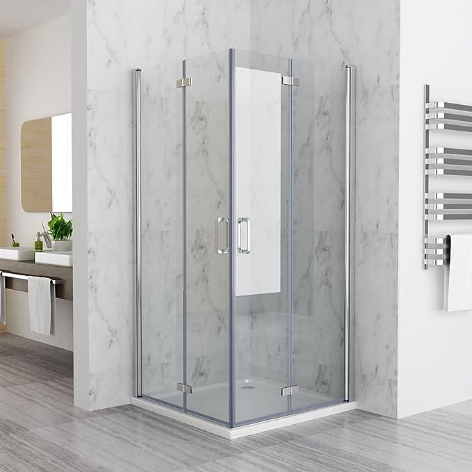 90 x 90 x 197 cm Mampara de ducha esquina. Puerta plegable ducha ...