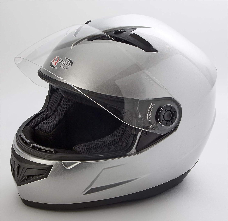 Moto//Scooter -Juridique de la Route XS Qtech Casque Visage Complet Casco Helm 53-54 cm ECE2205 Noir Mat