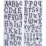 Papermania Leftovers - Timbri con lettere dell'alfabeto, 2 confezioni, trasparenti