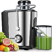 Licuadoras Para Verduras y Frutas, Aicook 600W Licuadora Con 65MM de Boca Ancha, Extractor de Jugos Acero Inoxidable de…