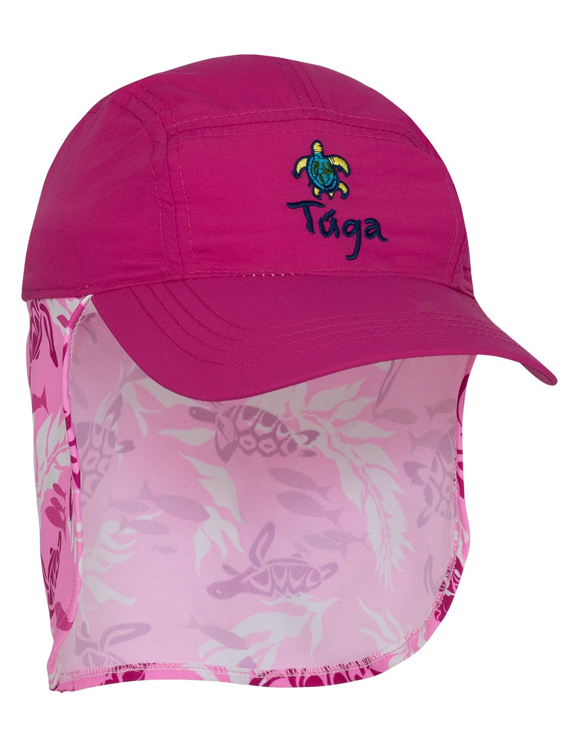 Tuga Girls Flap Hat (UPF 50+), Cotton Candy, Small