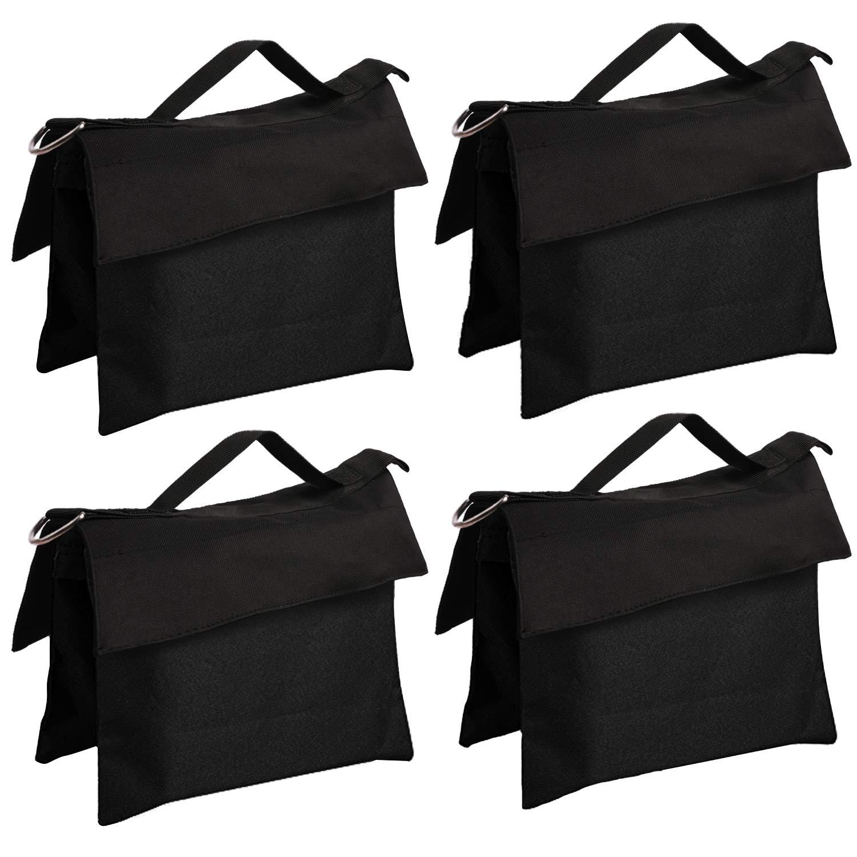 ABCCANOPY Sandbag Saddlebag Design 4 Weight Bags for Photo Video Studio Stand (Black-4pcs) by ABCCANOPY