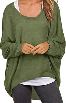 f89a408c5c UGET Women s Sweater Casual Oversized Baggy Off-Shoulder Shirts Batwing  Sleeve Pullover Shirts Tops Asia