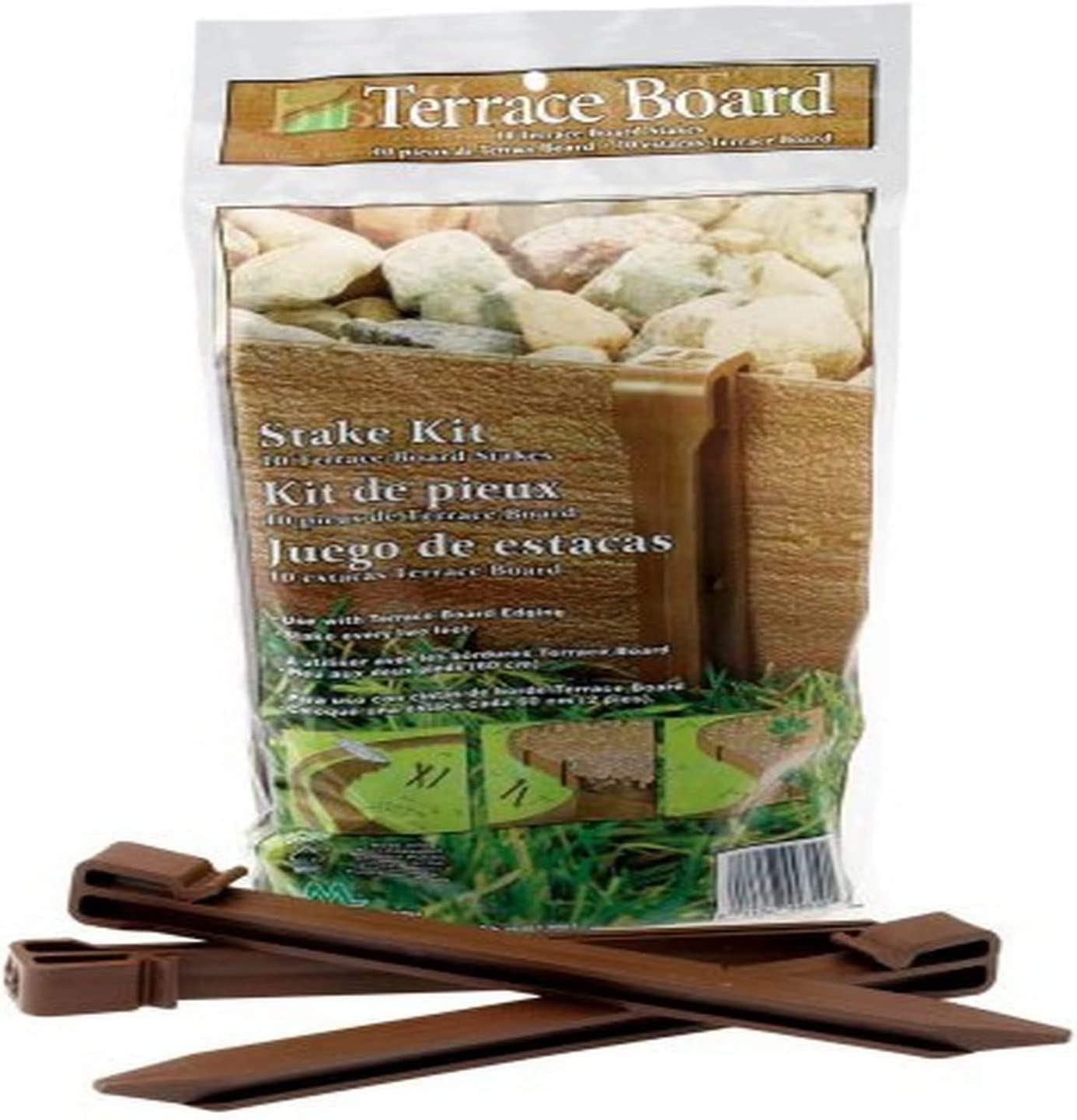 10 Inch 10 Pack Master Mark Plastics Brown Stakes,Terrace Board