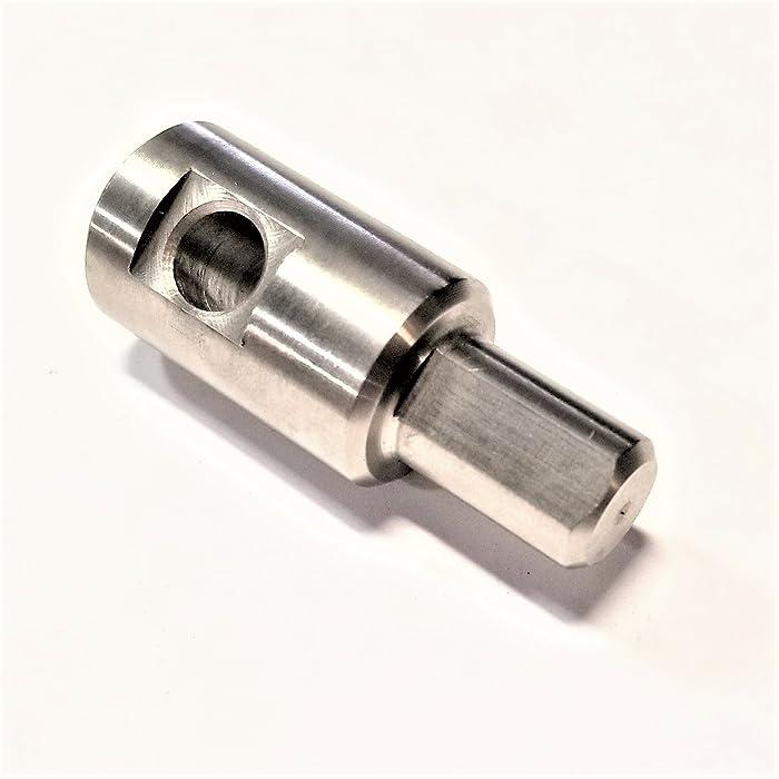 Vendetta Precision Garden Auger Power Drill Adapter - Stainless Steel - Fits Hiltex
