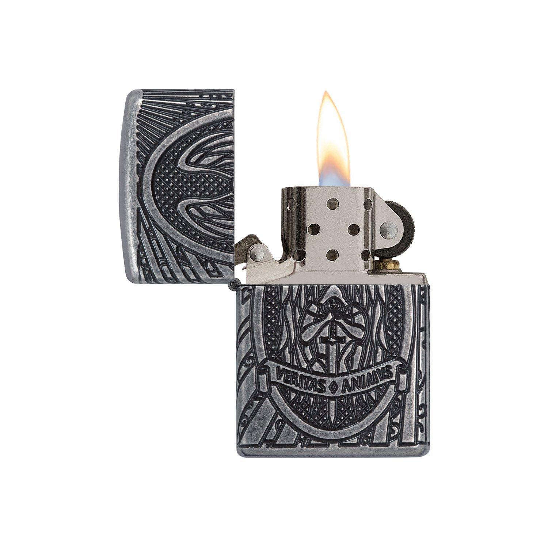 Transparent 6 x 6 x 8 cm 60003588 Michael Benzinfeuerzeug Messing Zippo ST