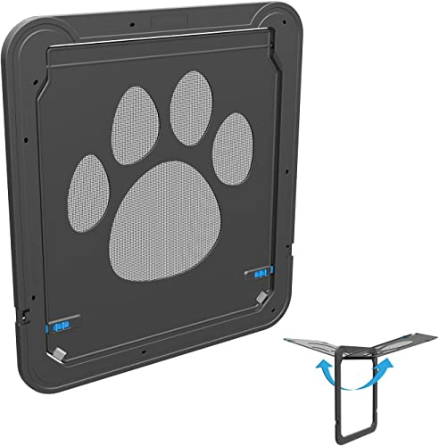 Namsan Dog Screen Door Pet Magnetic Automatic Lockable Door for Medium or Large Dog-Inner Size 12 x 14