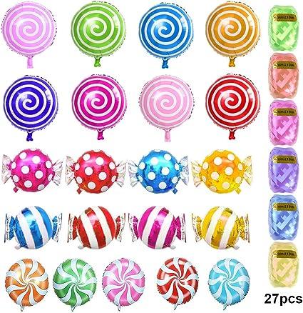 Amazon.com: ATPWONZ Globos de caramelo, juego de 21 globos ...