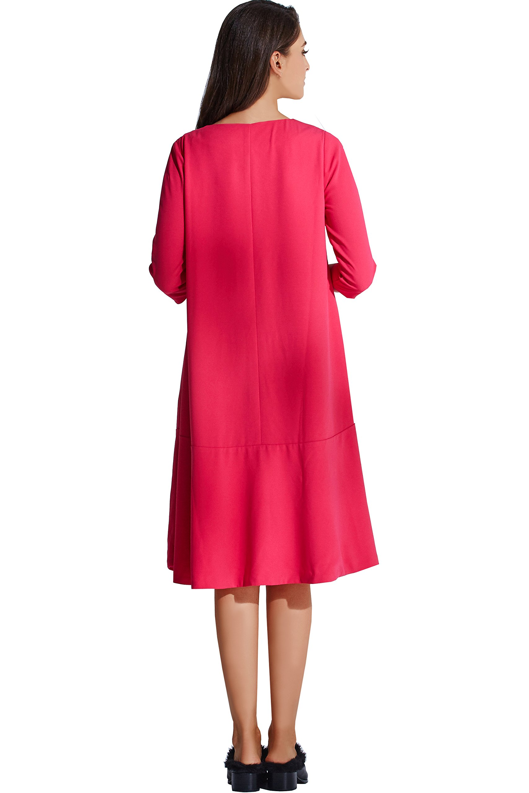 Sweet Mommy Maternity and Nursing Free Fit Baby Shower Dress Hot Pink, M by Sweet Mommy (Image #5)