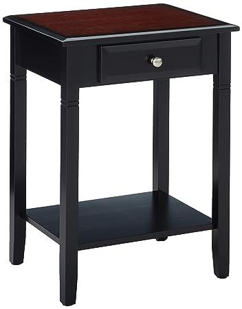 Linon Camden Accent Table, 18 w x 14 d x 24 h, Black Cherry