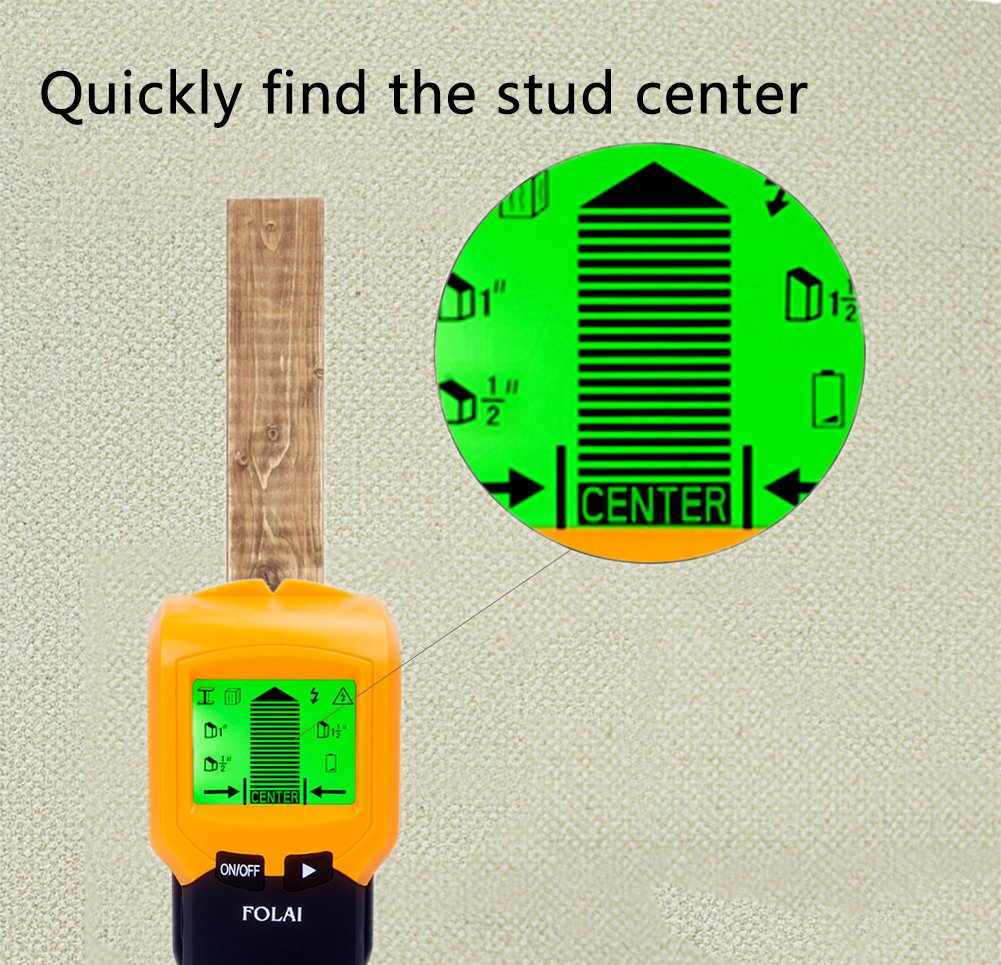 Stud Finders Wall Finder Center Finding With Sound Wiring Through Studs Warning For Ac Wire
