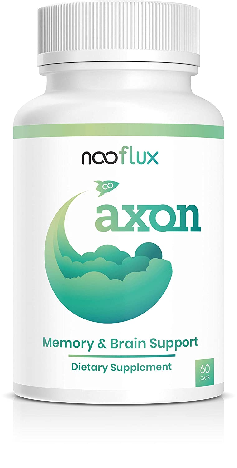 Brain Support Supplement – Enhance Memory, Brain Function, Boost Concentration – Nootropics w Adaptogens Plant Based Vitamins – Lions Mane Bacopa Monnieri Citicoline Ginkgo – Axon by Nooflux