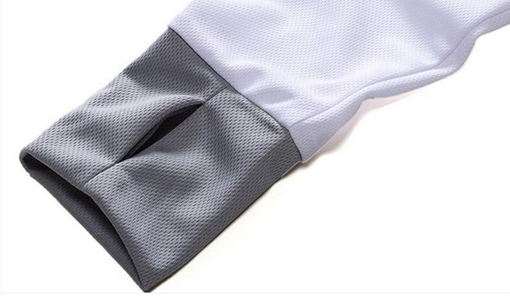 Qi Mai Men Outdoor Sunscreen Fishing Coats Quick Drying Rash Guards 1197 (L, White) by Qi Mai (Image #7)