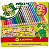 JOLLY 3000-0449 - Supersticks Classic, Metallic-Mix, Lernmaterialien, 24er set