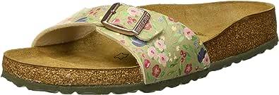 Birkenstock Madrid Womens Fashion Sandals, Green (Meadow Flowers Khaki 1012777), 40 EU