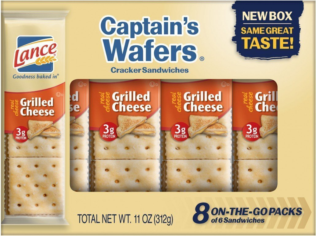 Lance Captains Wafers Crackers Grilled Cheese 8 Count (Pack of 3) by Lance