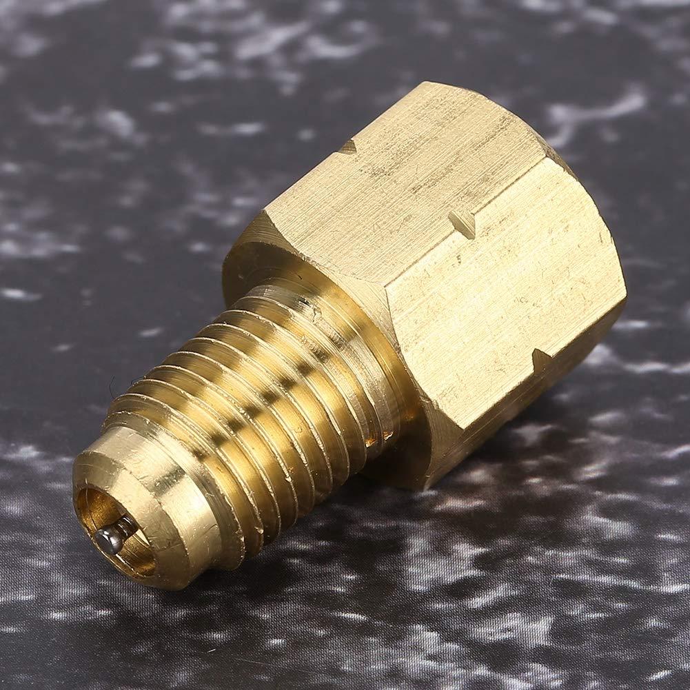 1//2 ACME-Buchse auf 1//4 SAE-Stecker Kfz-K/ühl Vakuumpumpen-Adapterstecker f/ür Europa und Amerika-Fahrzeuge K/ühl Adapter