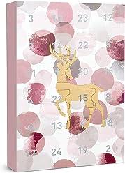 SIX Damenschmuck Adventskalender: Goldener Hirsch – 24 Überraschungen in Form schöner Schmuckstücke wie Ringe, Ohrringe, Ketten und Armbände