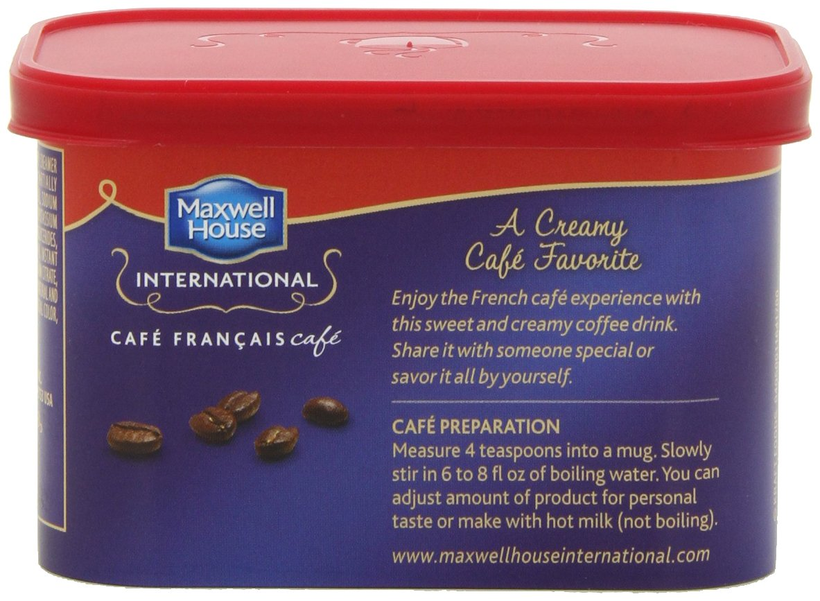 Maxwell House International Coffee Cafe Francais, 7.6 Ounce Cans (Pack of 8)
