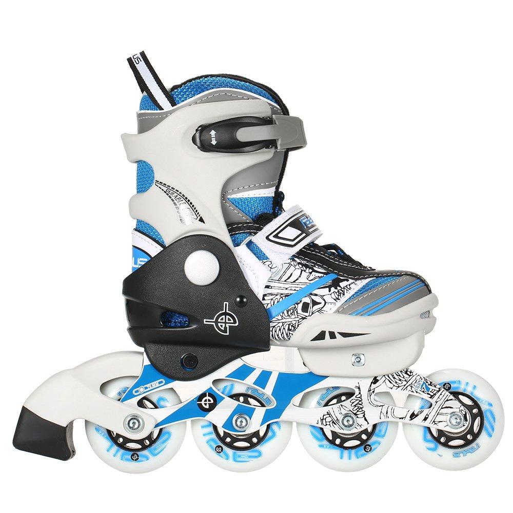 Lixada Kids Inline Skate Breathable Mesh Roller Skates 4
