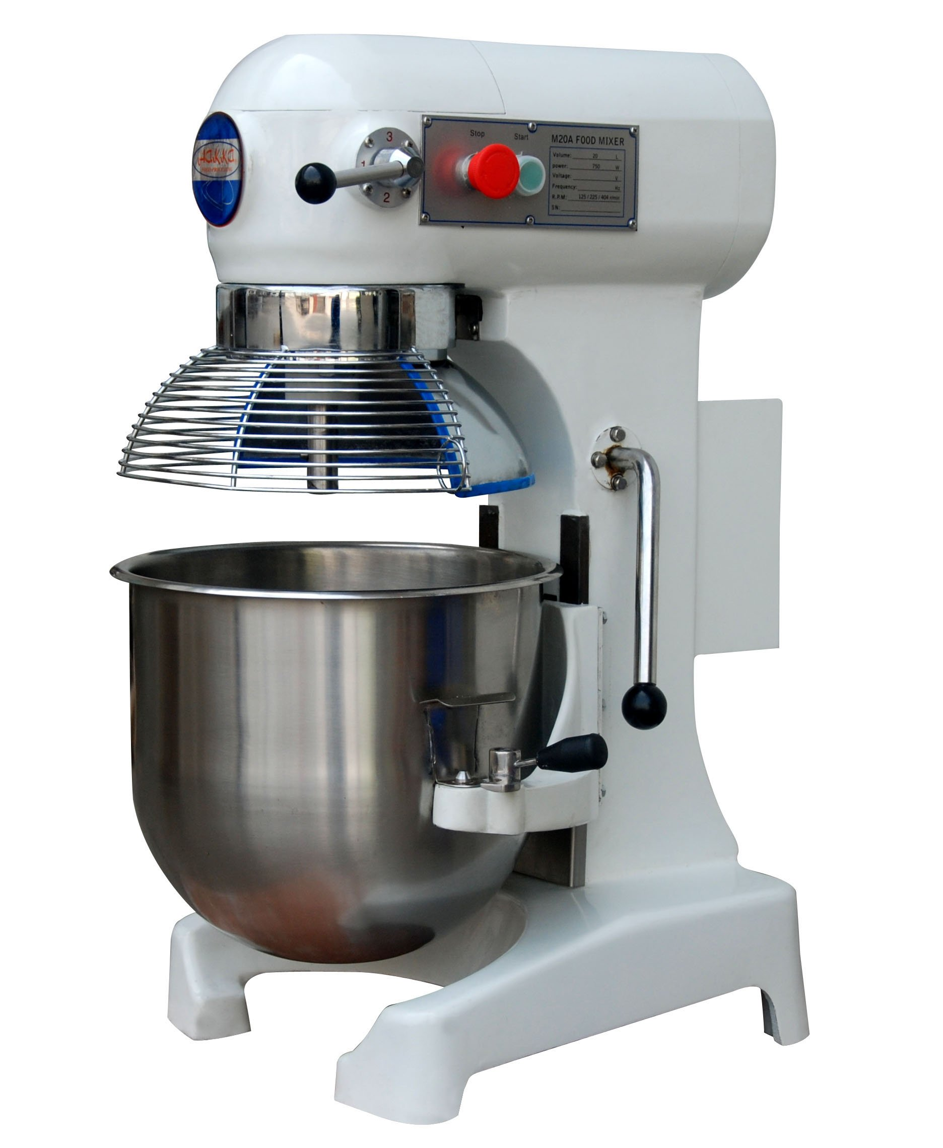 Hakka Commercial Planetary Mixers 3 Funtion Stainless Steel Food Mixer (20 Quart(M20A))