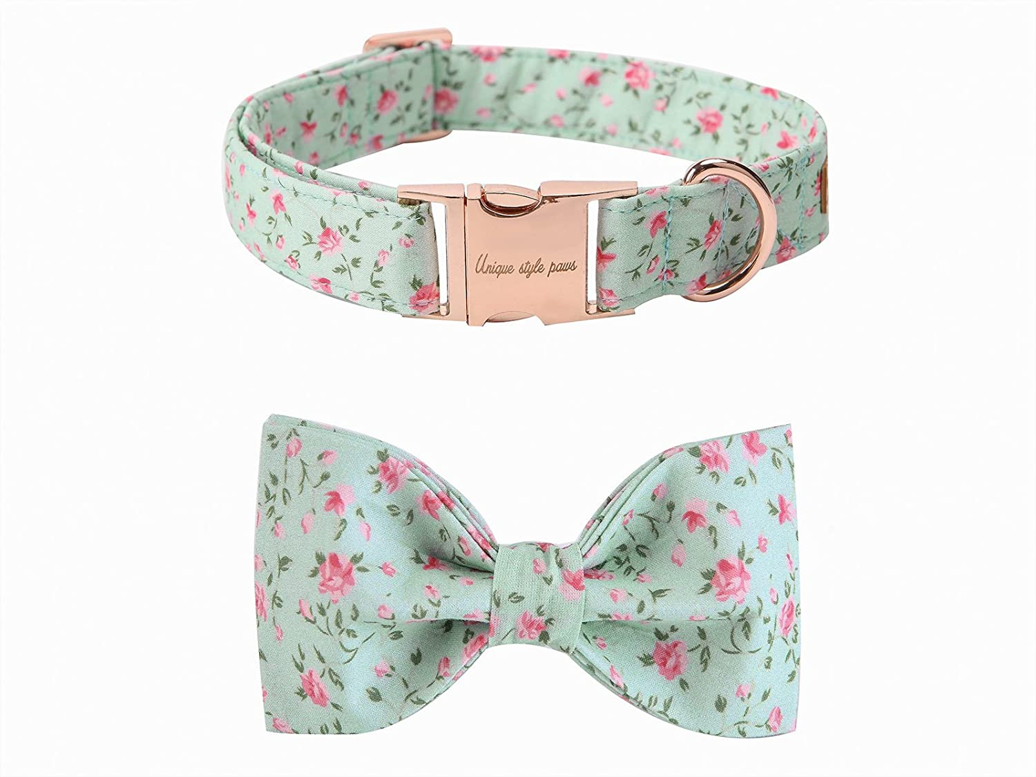 Flower XLargePet Soft &Comfy Bowtie Dog Collar And Cat Collar Pet Gift For Dogs And Cats 6 Size And 7 Patterns