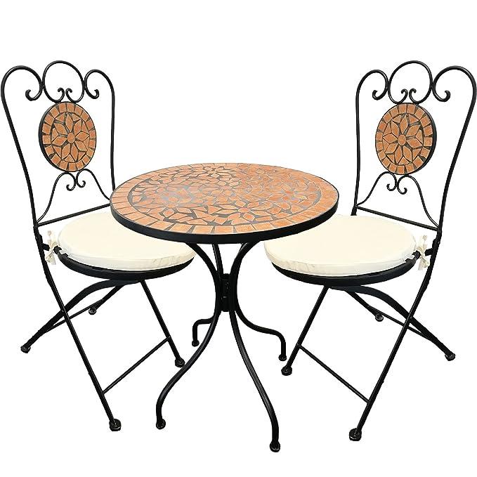 Amazon.de: Mediterane Mosaik Garnitur 5-teilig Sitzgruppe ...