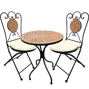 Amazon De Mosaik Sitzgarnitur Sitzgruppe Gartentisch Stuhle