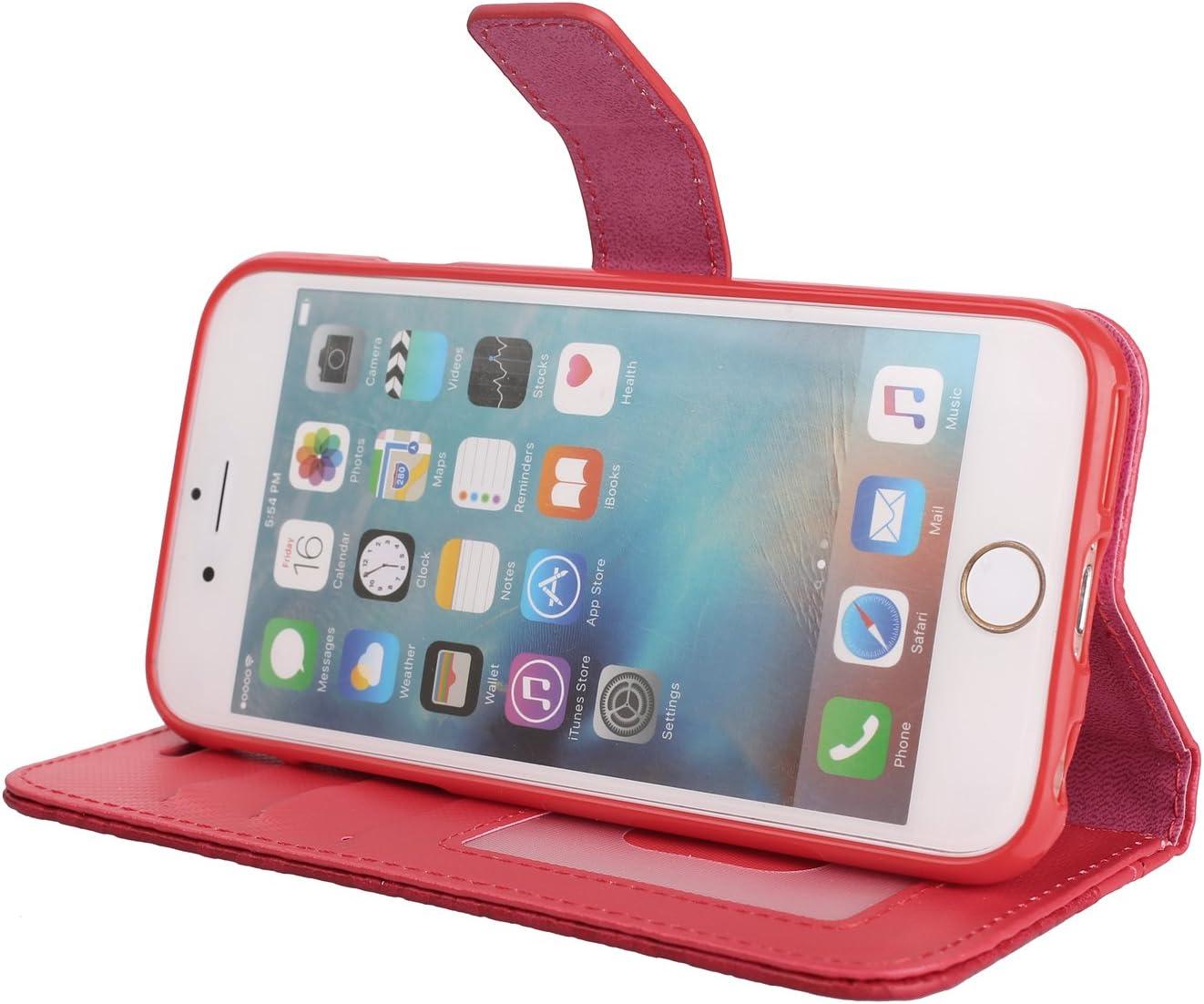 iPhone 6S Ledertasche Kartenfach Geldklammer St/änder Magnet iPhone 6S Handyh/ülle Glitzer Strass Leder H/ülle Wallet Flip Schutzh/ülle Tasche mit iPhone 6 Huphant kompatibel mit iPhone 6 Gold