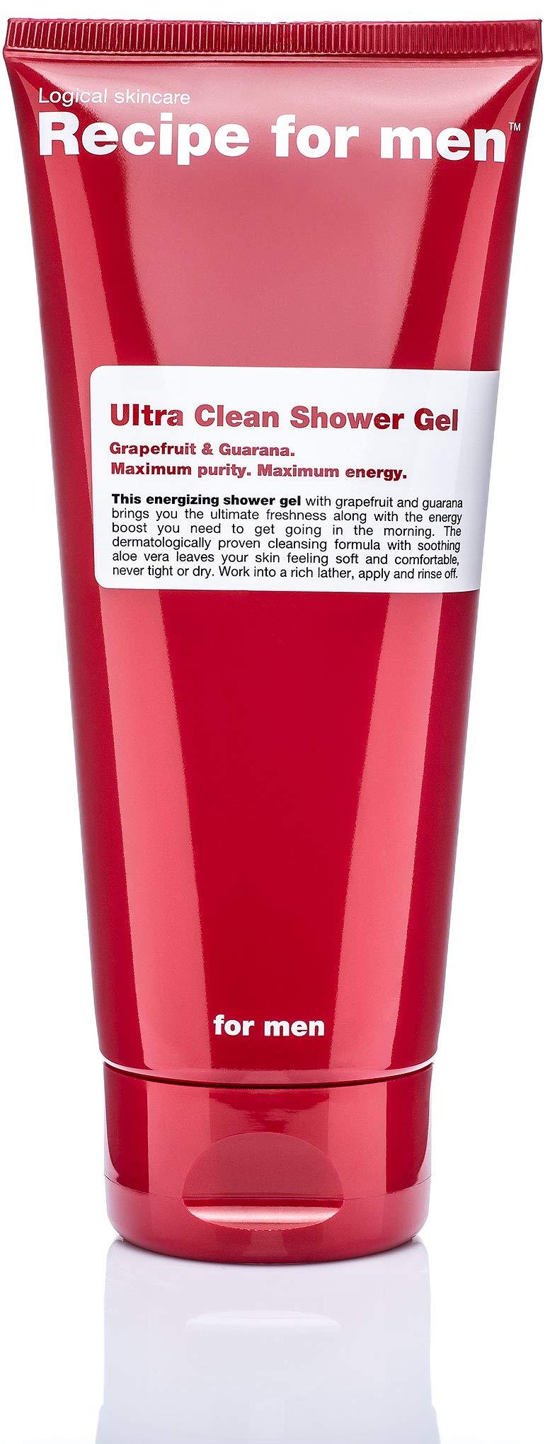 Recipe for Men Ultra Clean Shower Gel, 6.7 Fl Oz by Recipe for Men