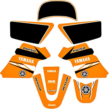 YAMAHA PW 50 PW50  GRAPHICS KIT DECALS DECO Fits Years 1990-2018 White