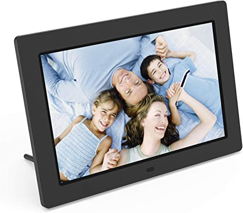 Digital Picture Frame 10.1 Inch Winnovo D10 1280 x 800 HD Display Remote Control Auto Power On and Off Music Video Calendar Support USB SD Card Black