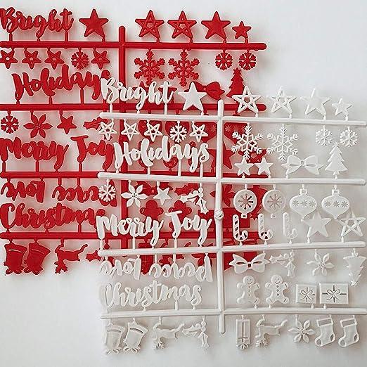 Symbolen Nanima Home Decor Set mit Buchstaben wei/ß vorgeschnitten Zahlen Buchstabentafel 2cm f/ür Filz Letterboard