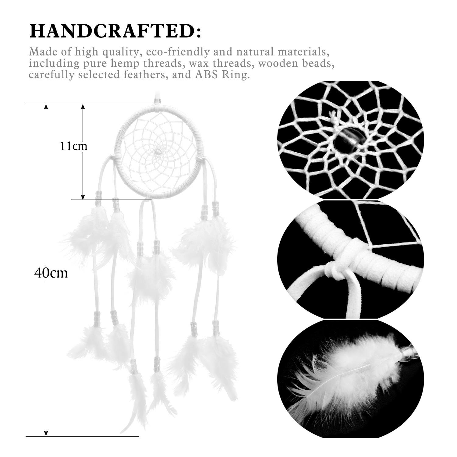 SOLEDI® Dream Catcher Circular Net with Feathers Wall Hanging Decoration Ornament