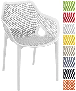 CLP Stapel Stuhl AIR XL, Bistrostuhl Stapelbar, Max. Belastbarkeit: 130 Kg