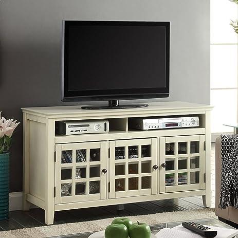 Amazon.com: Linon Largo Turquoise Media Cabinet: Kitchen & Dining