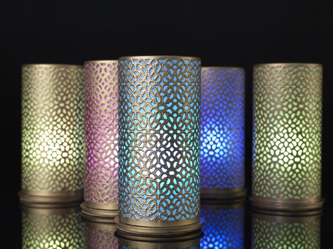 Duni M/étal Bougeoir blliss Or 140/x 75/mm pour Bougies Pilier ou LED Multicolore de