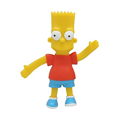 The Simpsons : Bart Simpson 4 inch Bendable Figure: Toys & Games