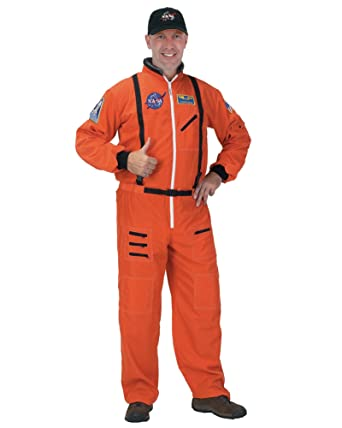Summitfashions Menu0027s Theatre Costume NASA Astronaut Space Suit Jumpsuit Orange Sizes One Size  sc 1 st  Amazon.com & Amazon.com: Summitfashions Menu0027s Theatre Costume NASA Astronaut ...