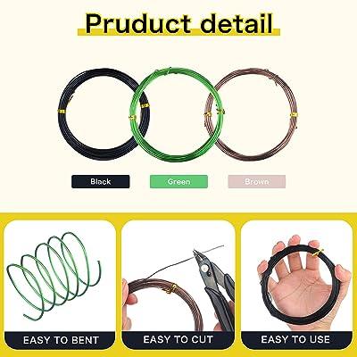 alpha-ene.co.jp 15 Rolls 5 Sizes Bonsai Wire Set Anodized Aluminum ...