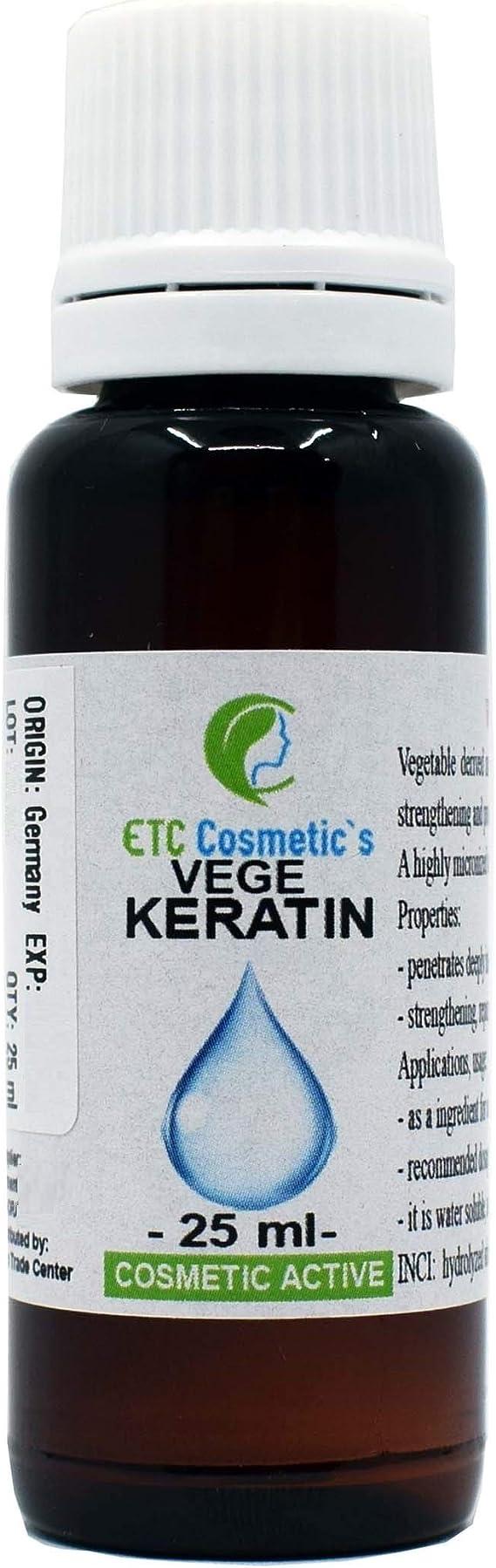 Aceite de queratina vegetal – 25 ml – Aceite de queratina vegetal para el cuidado del cabello seco, fortalece la piel, protege el cabello