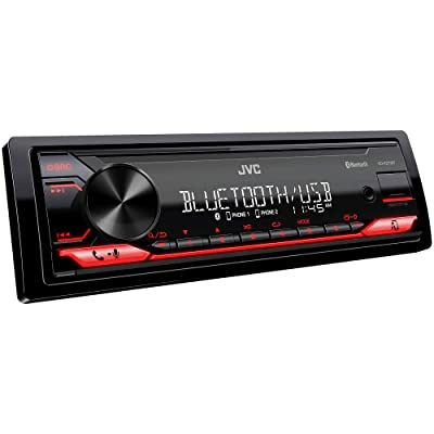 JVC KD-X270BT Digital Media Receiver Featuring Bluetooth, Front USB, JVC Remote App Compatibility: Electronics