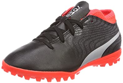 size 40 62f3f 0b02e Puma One 18.4 TT Jr, Chaussures de Football Mixte Enfant, Noir Black Silver-