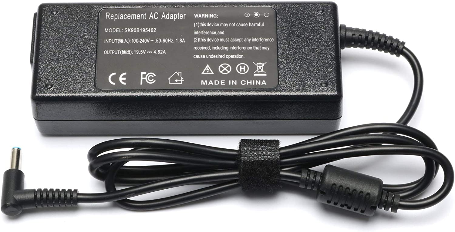 90W AC Adapter Laptop Charger Replacement for HP-Envy Touchsmart-Sleekbook 15 17 M6 M7 Series P/N: 854117-850 853605-001 PA-1650-63 HP Power Supply Cord