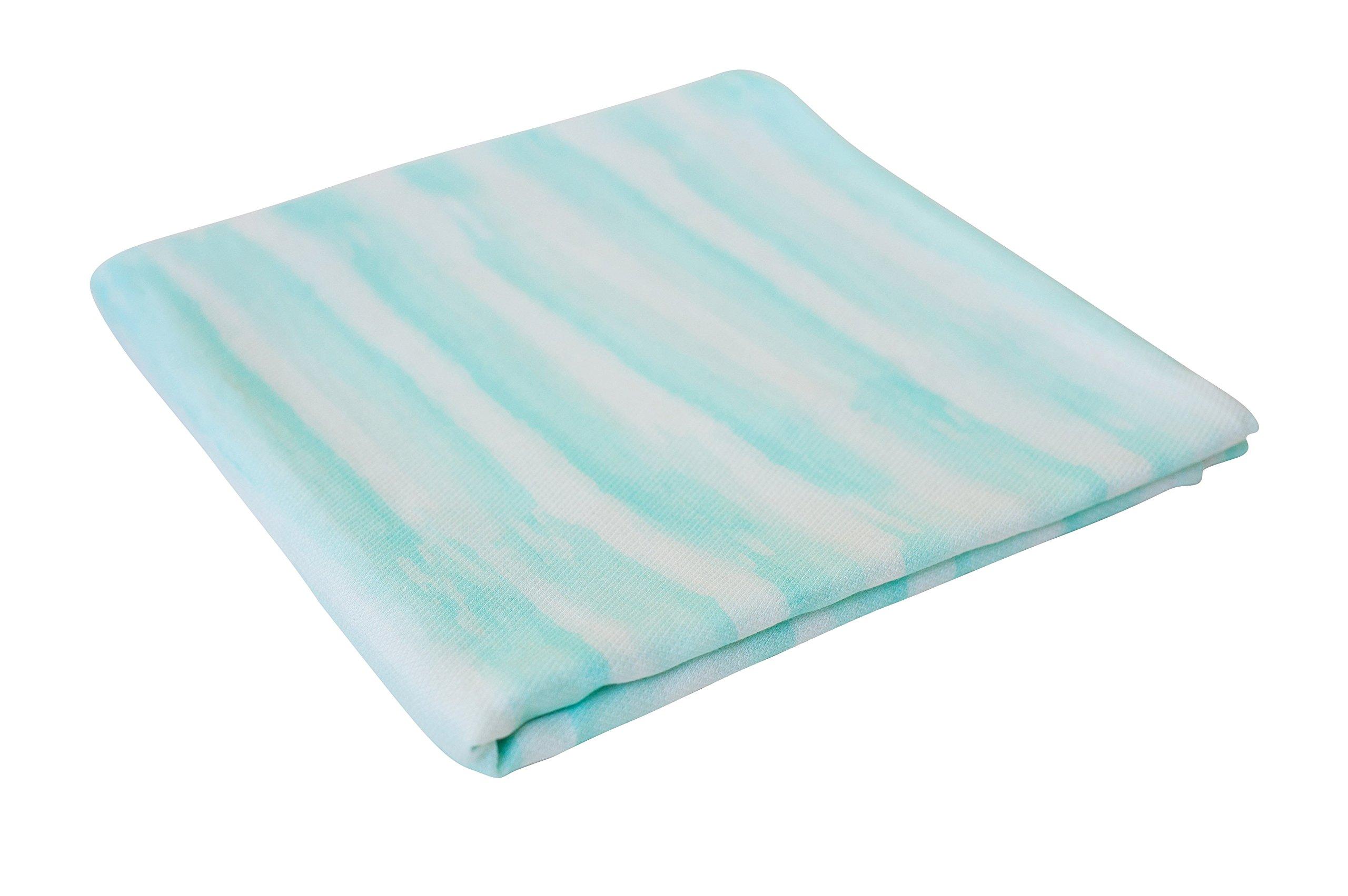 Warm, Soft, Comfortable Swaddle Baby Blanket for Sensitive Skin (Ocean Stripe)