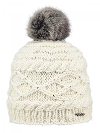 ccf7cebb7ab BARTS - Bonnet blanc à pompon Barts Modèle junior et femme strass   Amazon.fr  Vêtements et accessoires